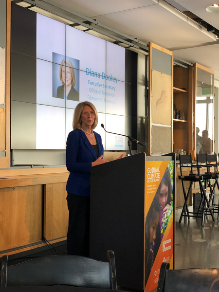Diana Dooley, Executive Secretary, Office of Governor Brown presents at GCAS Affiliate Event: Education: Key to Long-term Climate Action Success